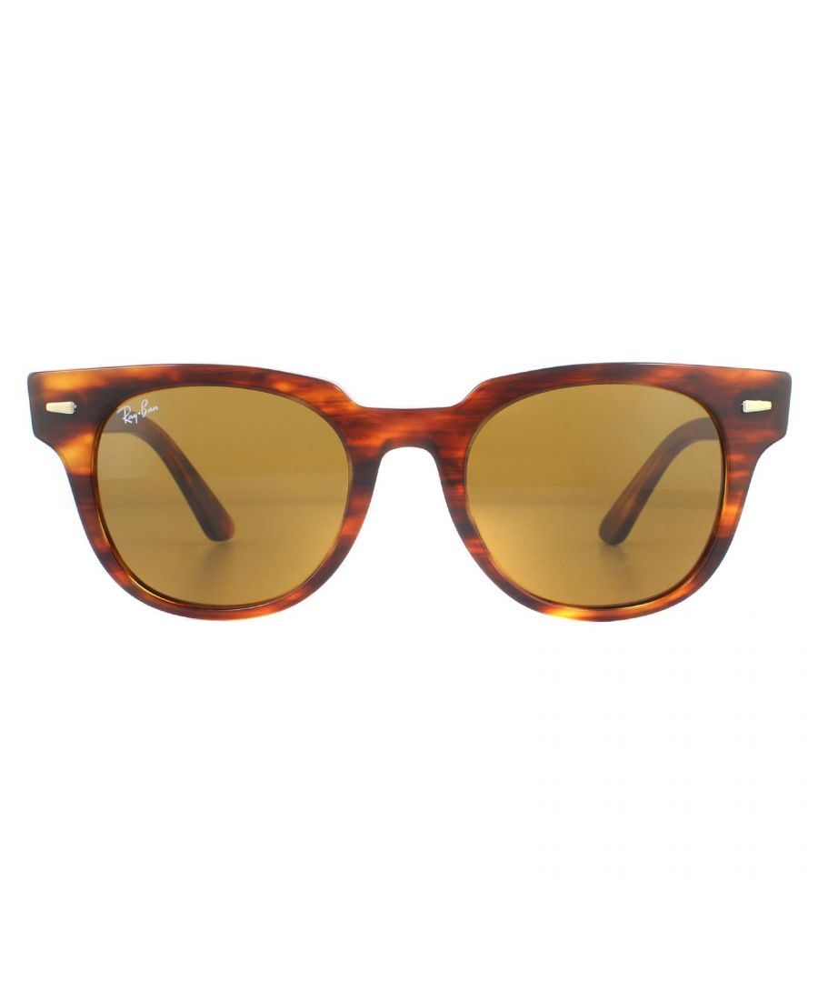 Image for Ray-Ban Sunglasses Meteor RB2168 954/33 Striped Havana  B-15 Brown
