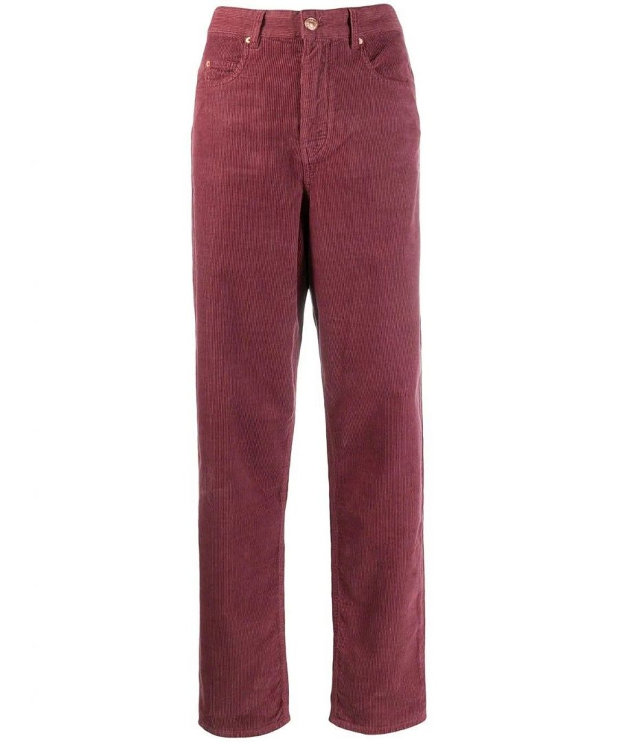 Image for ISABEL MARANT ÉTOILE WOMEN'S PA136719A020E40RW PURPLE COTTON PANTS