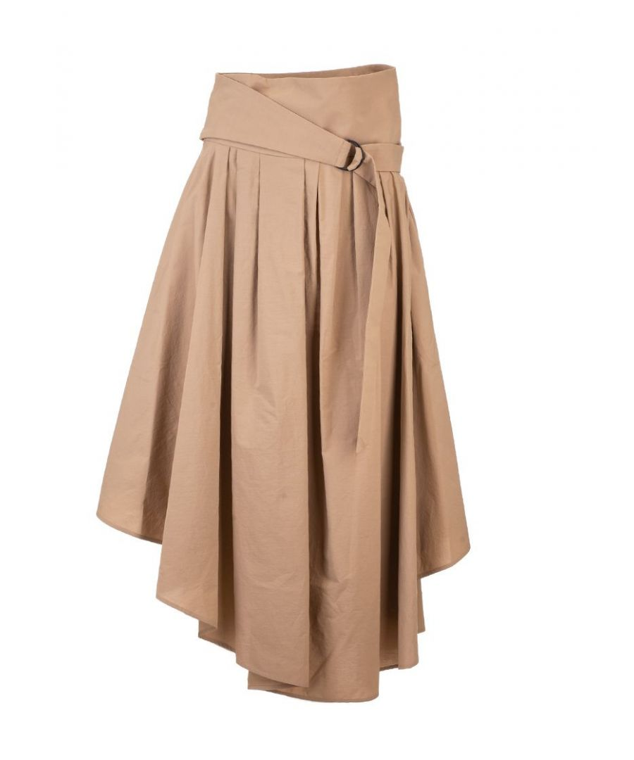 Image for BRUNELLO CUCINELLI WOMEN'S MH127G2906C7902 PINK COTTON SKIRT