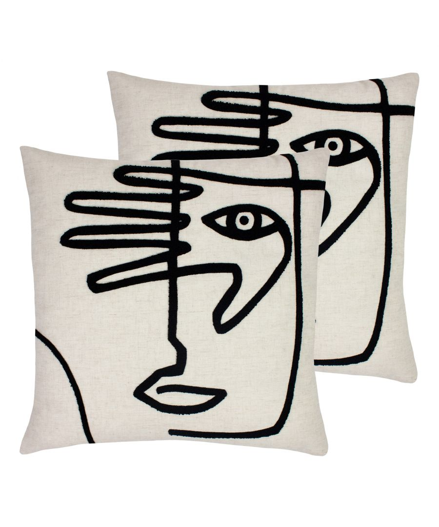 Image for Mono Face Cushions (Twin Pack)