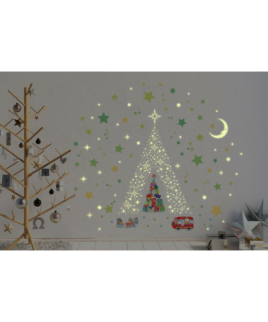 Image for C3W0011 - Glow Stars and Moon with Reindeer Christmas Tree - WS4301 + WS3036 + WS3040