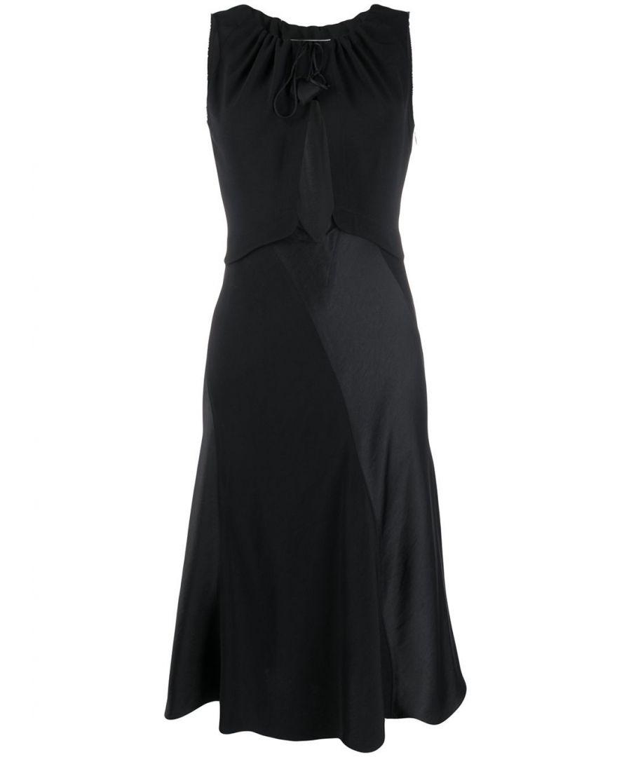 Image for LANVIN WOMEN'S RWDR224B3408P2010 BLACK VISCOSE DRESS