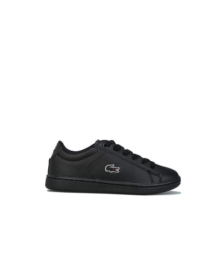 Image for Boy's Lacoste Children Carnaby Evo Trainers in Black