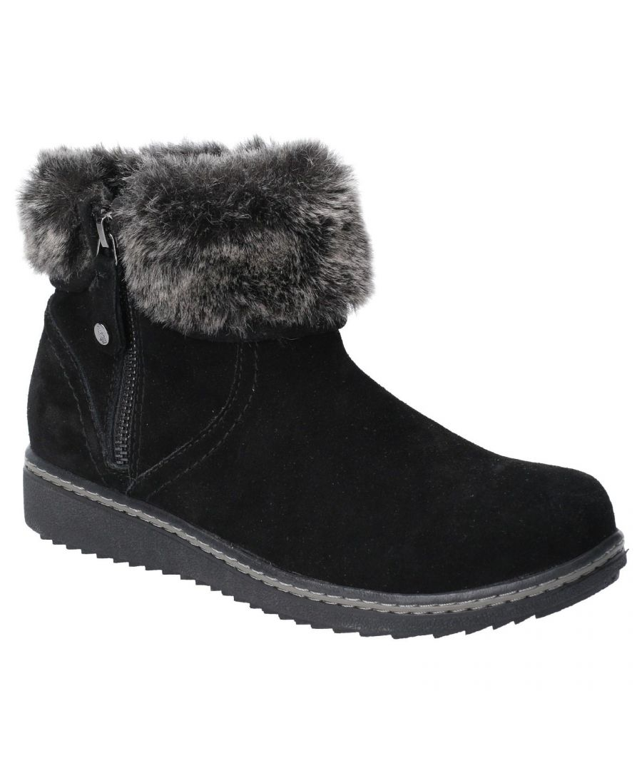 Image for Hush Puppies Women's Penny Zip Ankle Boot (Black)