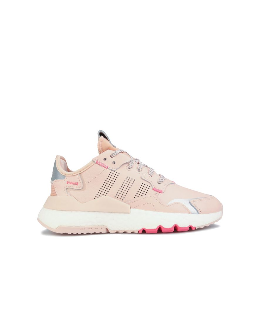 Image for Girl's adidas Originals Junior Nite Jogger Trainers in Pink