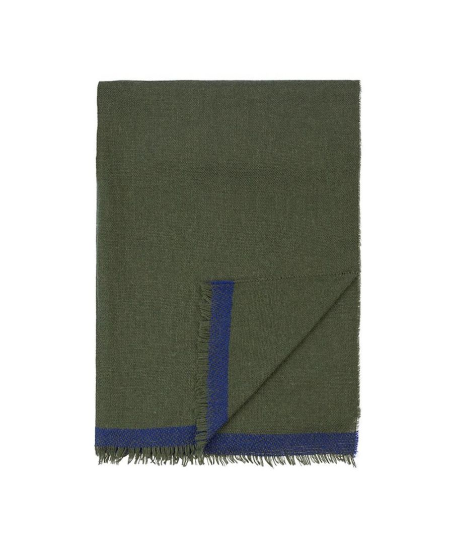 Image for Men's Hackett, Loose Weave Solid Scarf in Olive