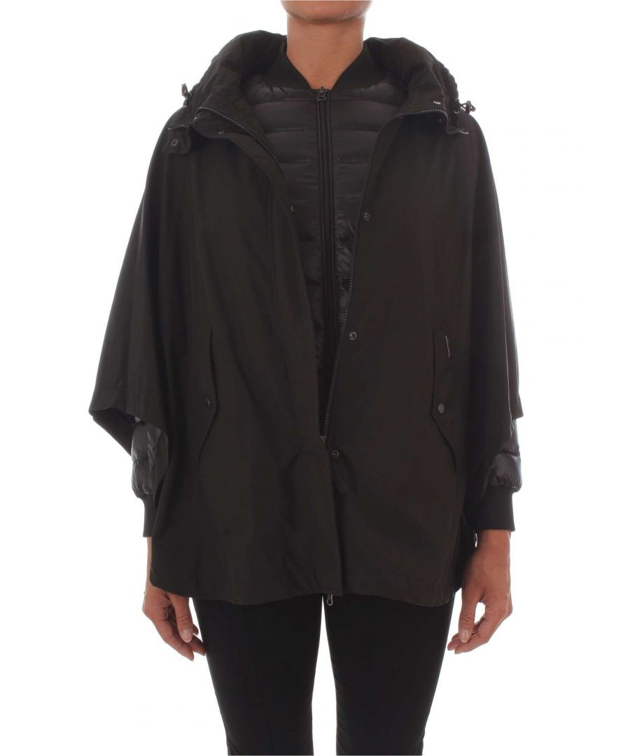 Image for WOOLRICH WOMEN'S WWCPS2622LC10100 BLACK POLYESTER OUTERWEAR JACKET