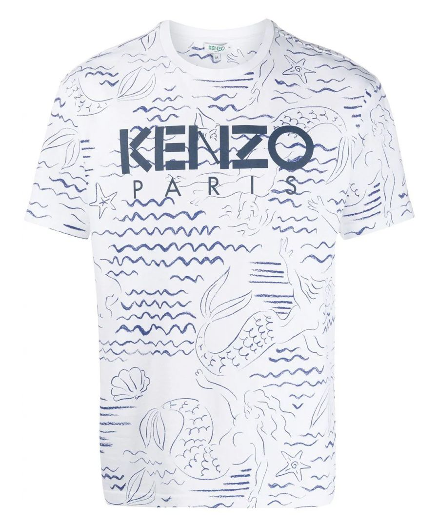 Image for KENZO MEN'S FA55TS0434SC01 WHITE COTTON T-SHIRT