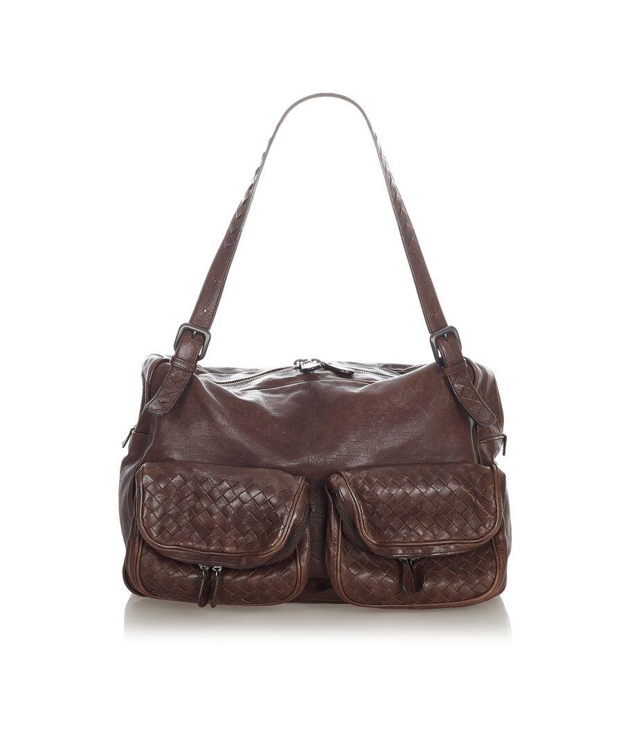 Image for Vintage Bottega Veneta Intrecciato Leather Shoulder Bag Brown