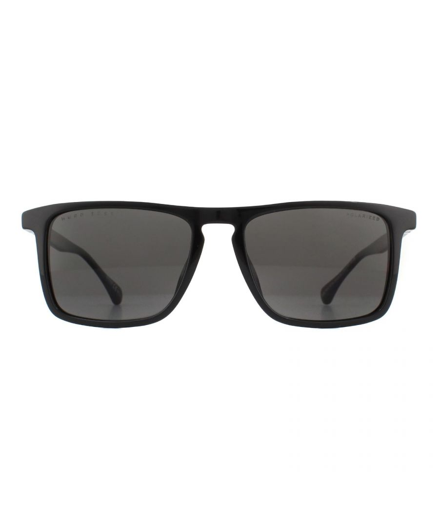 Image for Hugo Boss Sunglasses 1082/S 807 M9 Black Grey Polarized