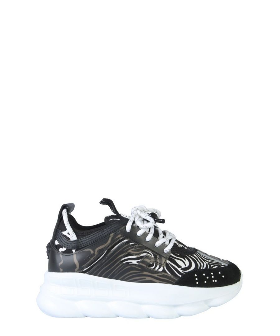 Image for VERSACE WOMEN'S DSR705GD4TZGDNW BLACK LEATHER SNEAKERS