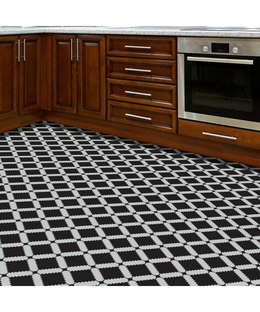 Image for WFS6024 - Modern Geometric Stencil Pattern Floor Stickers 120cm x 60 cm