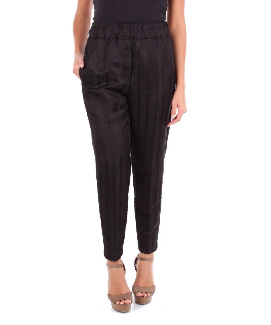 Image for JUCCA WOMEN'S J2914009003 BLACK POLYAMIDE PANTS