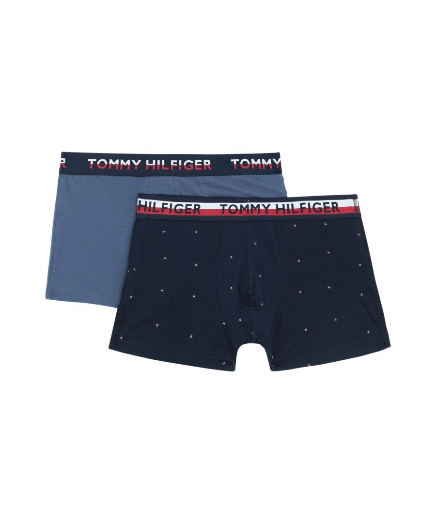 Image for Tommy Hilfiger Men's Cotton Boxers in Blue