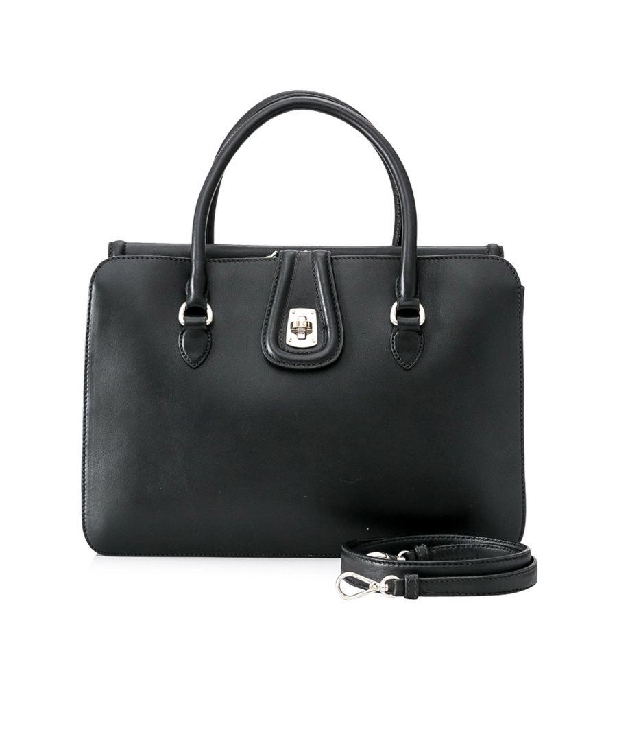 Image for Vintage Miu Miu Vitello Leather Satchel Black
