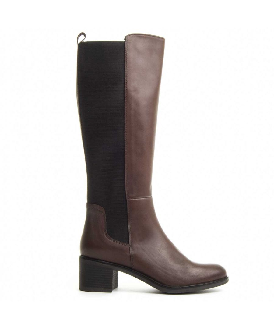 Image for Purapiel Rosana Heeled Boot in Brown