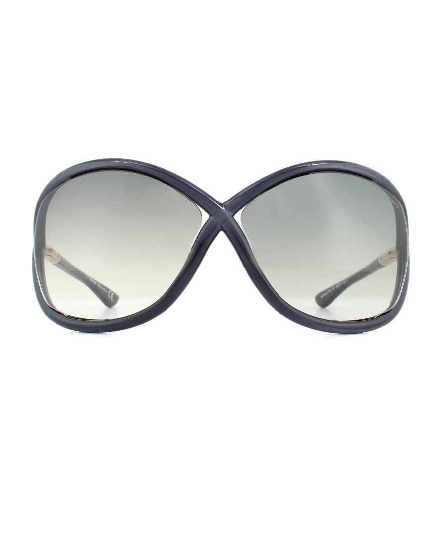 Image for Tom Ford Sunglasses 0009 Whitney 0B5 Crystal Grey Grey Gradient