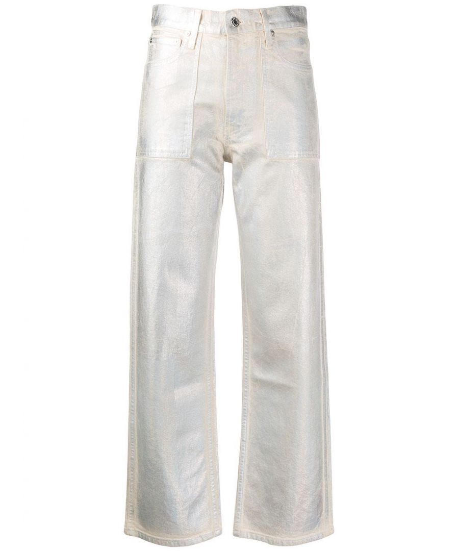 Image for HELMUT LANG WOMEN'S K01DW204Z61 WHITE COTTON JEANS