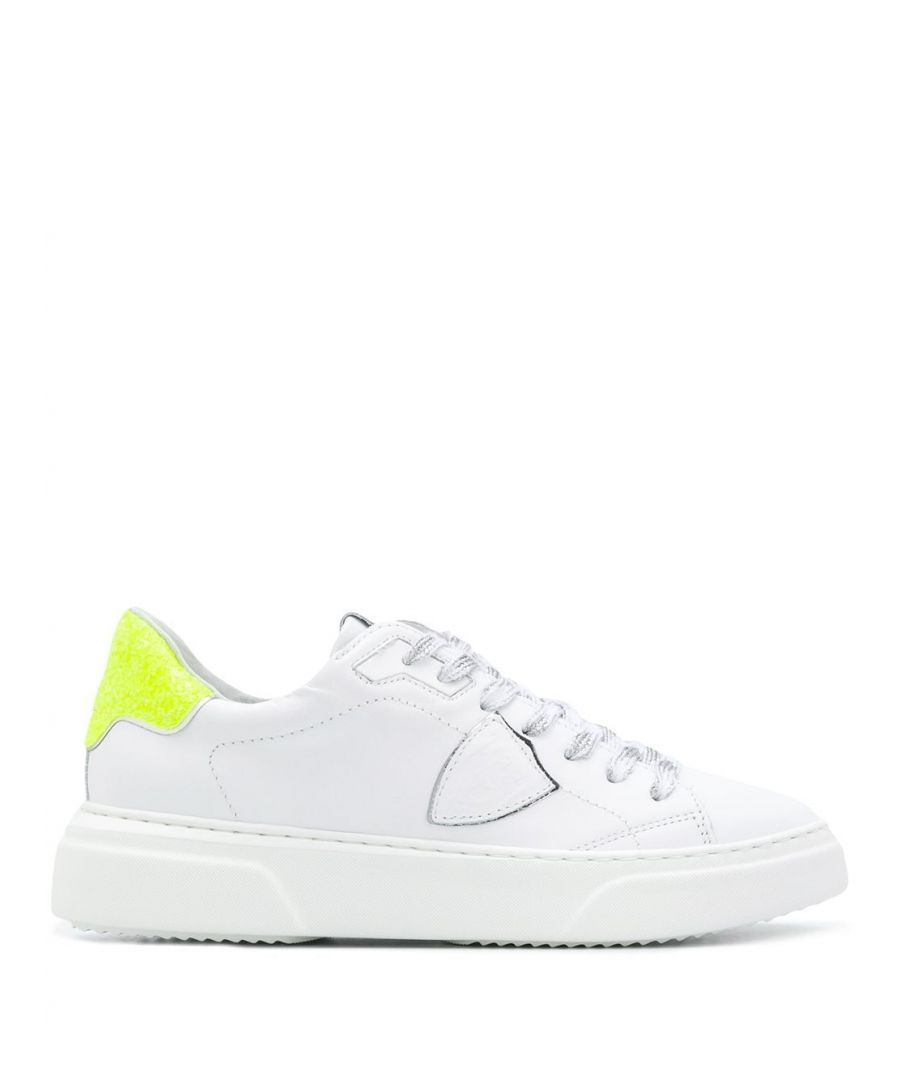 Image for PHILIPPE MODEL WOMEN'S BYLDVG03 WHITE LEATHER SNEAKERS