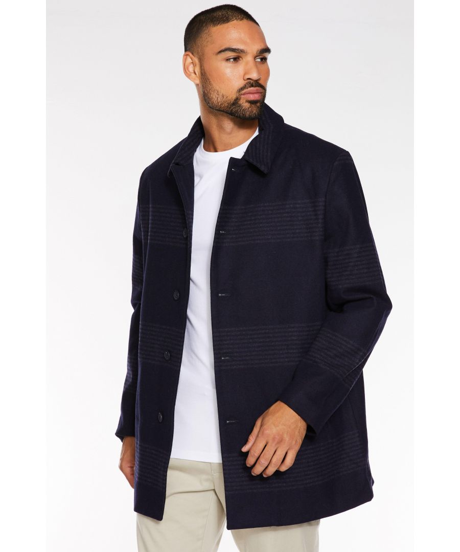 Image for Navy Wool Overcoat