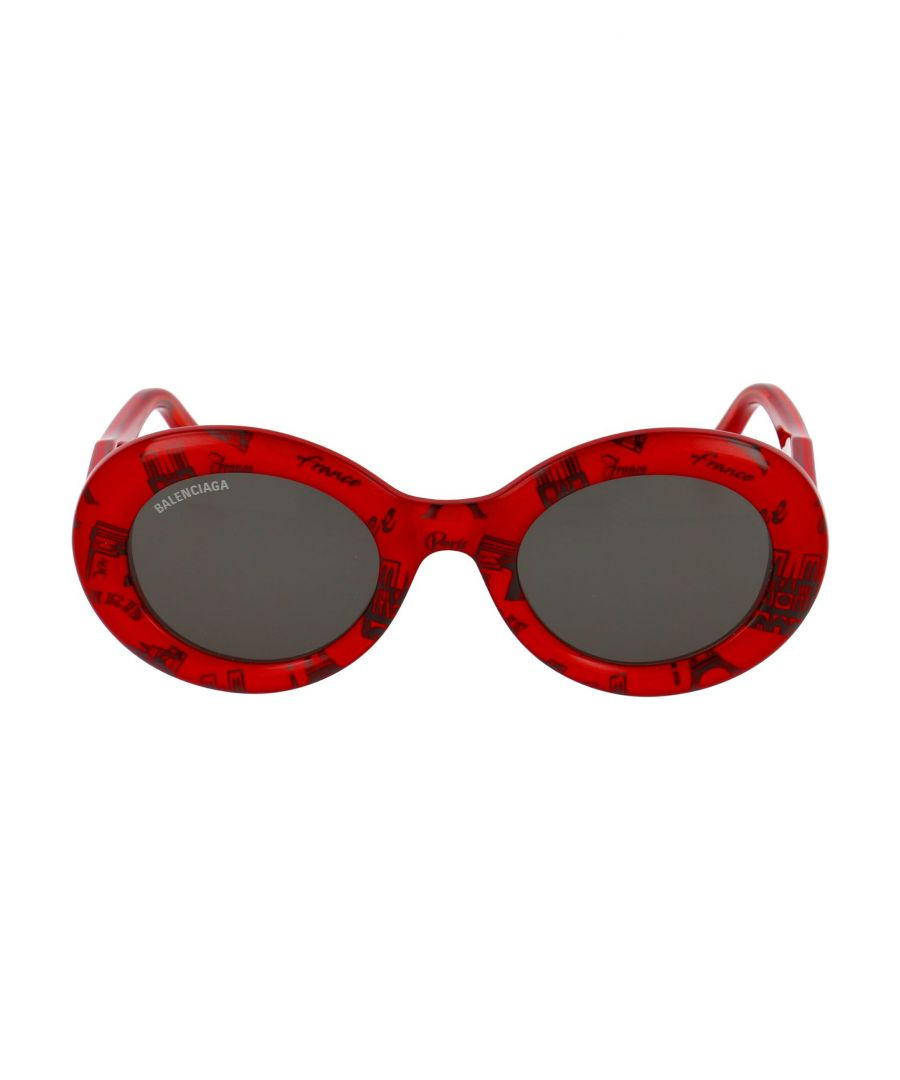 Image for BALENCIAGA WOMEN'S BB0074S003 RED ACETATE SUNGLASSES