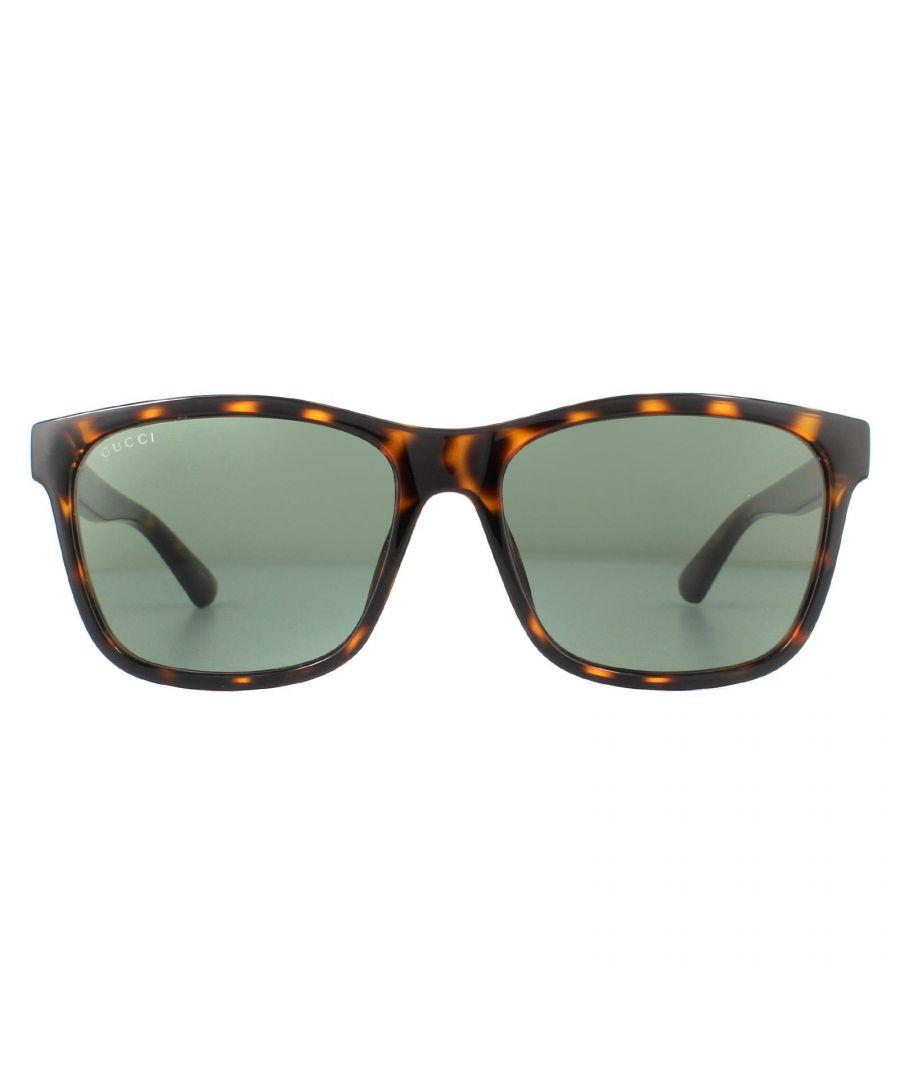 Image for Gucci Sunglasses GG0746S 003 Dark Havana Green
