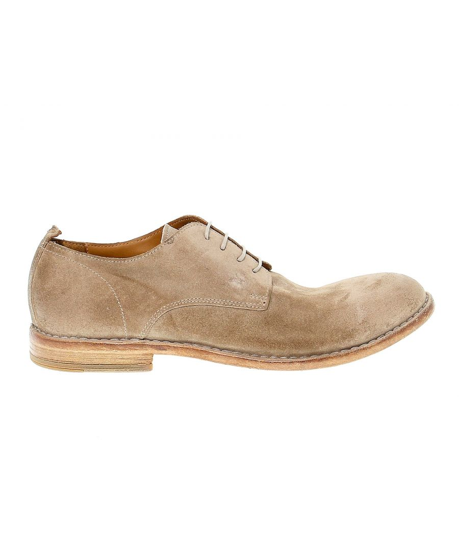 Image for MOMA MEN'S 14801BEIGE BEIGE SUEDE LACE-UP SHOES