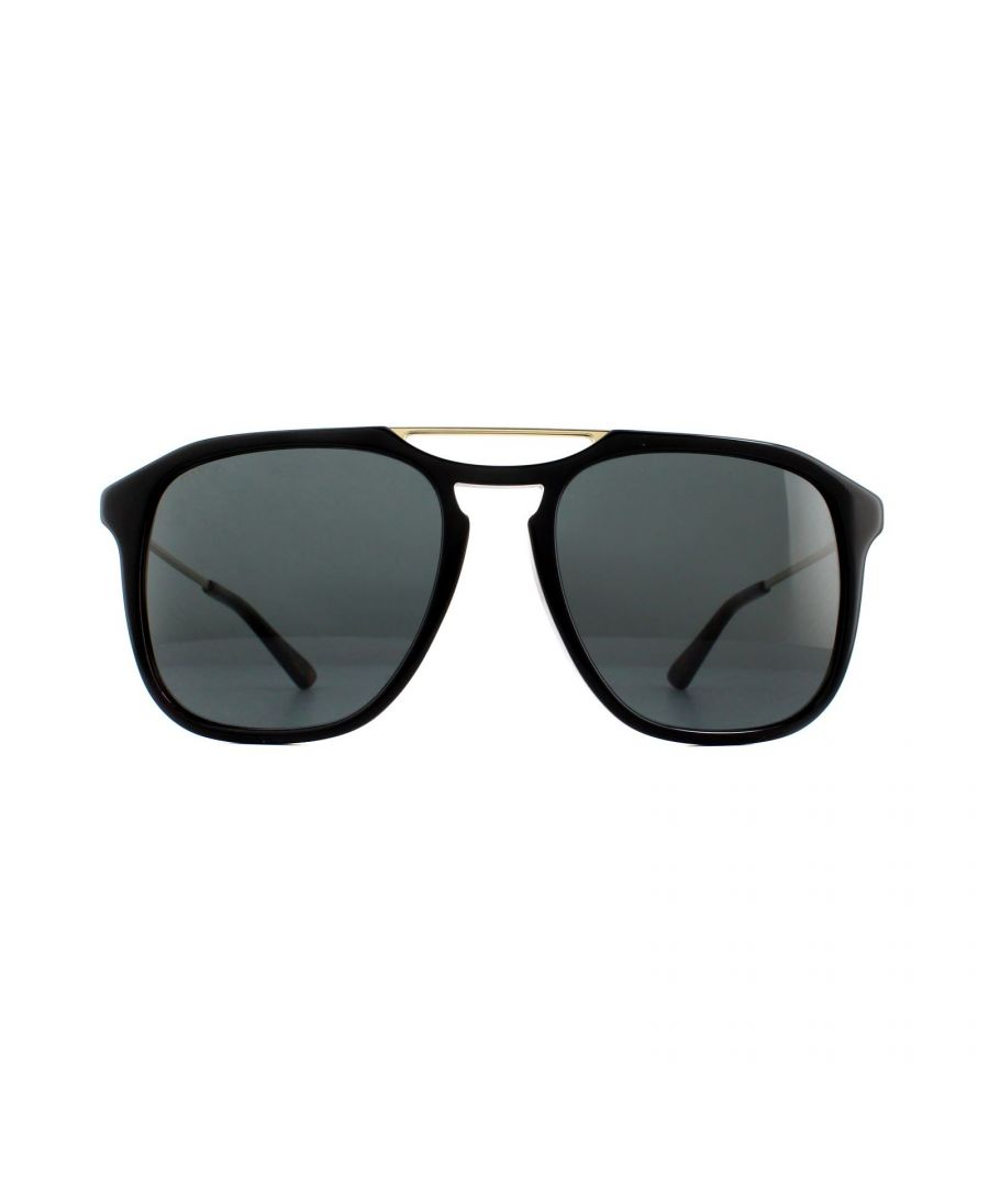 Image for Gucci Sunglasses GG0321S 001 Black Gold Grey