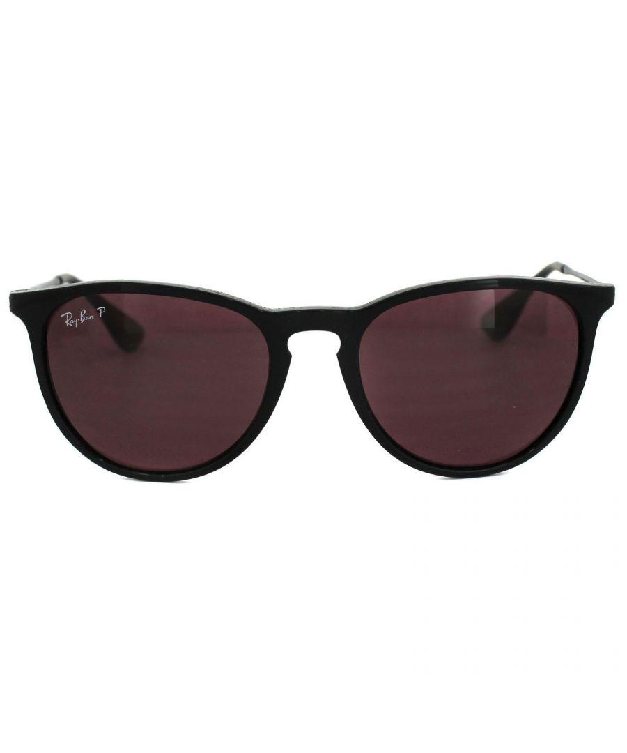 Image for Ray-Ban Sunglasses Erika 4171 601/5Q Black Violet Mirror Polarized