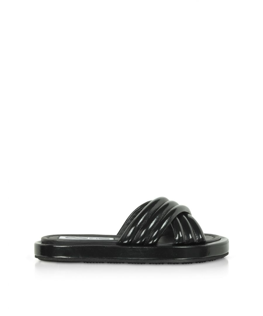 Image for MCQ BY ALEXANDER MCQUEEN WOMEN'S 596729R26501000 BLACK LEATHER SANDALS
