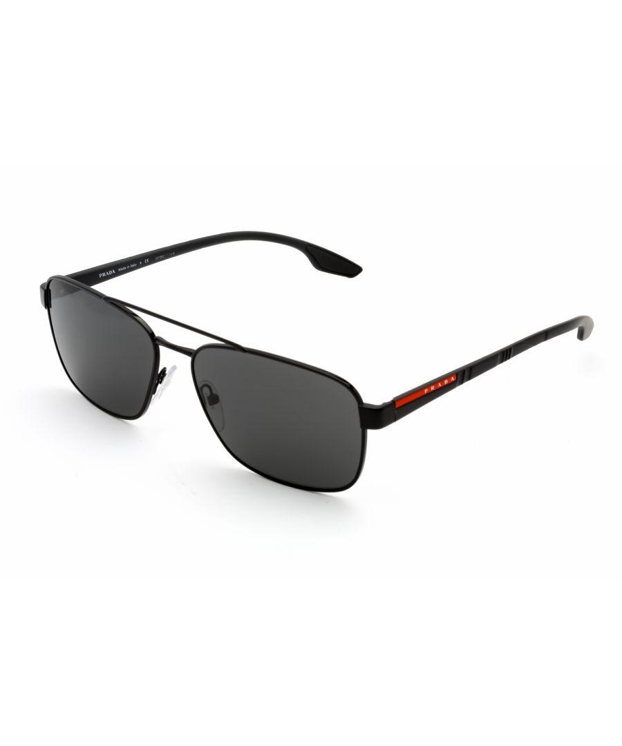 Image for Prada Sport Rectangular metal Men Sunglasses Black / Grey