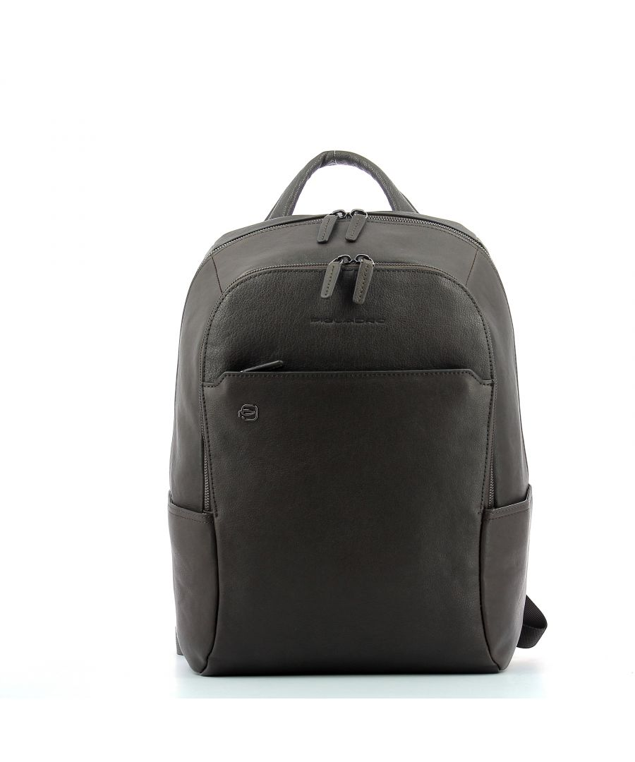 Image for Computer Backpack Black Square 14.0 Piquadro TESTA MORO