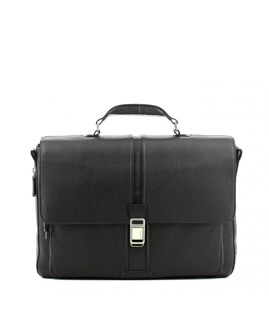 Image for Expandable leather Laptopbag 14.0 Piquadro MARRONE