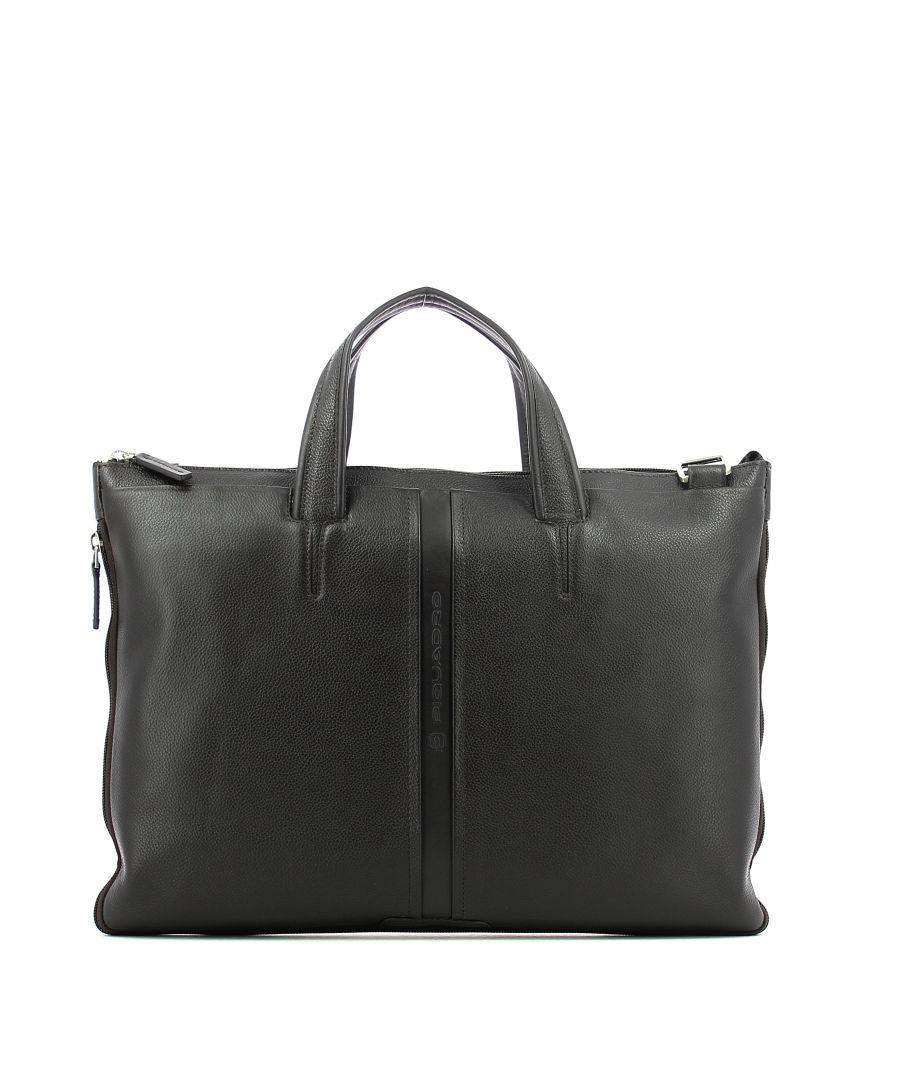 Image for Expandable slim briefcase Piquadro MARRONE