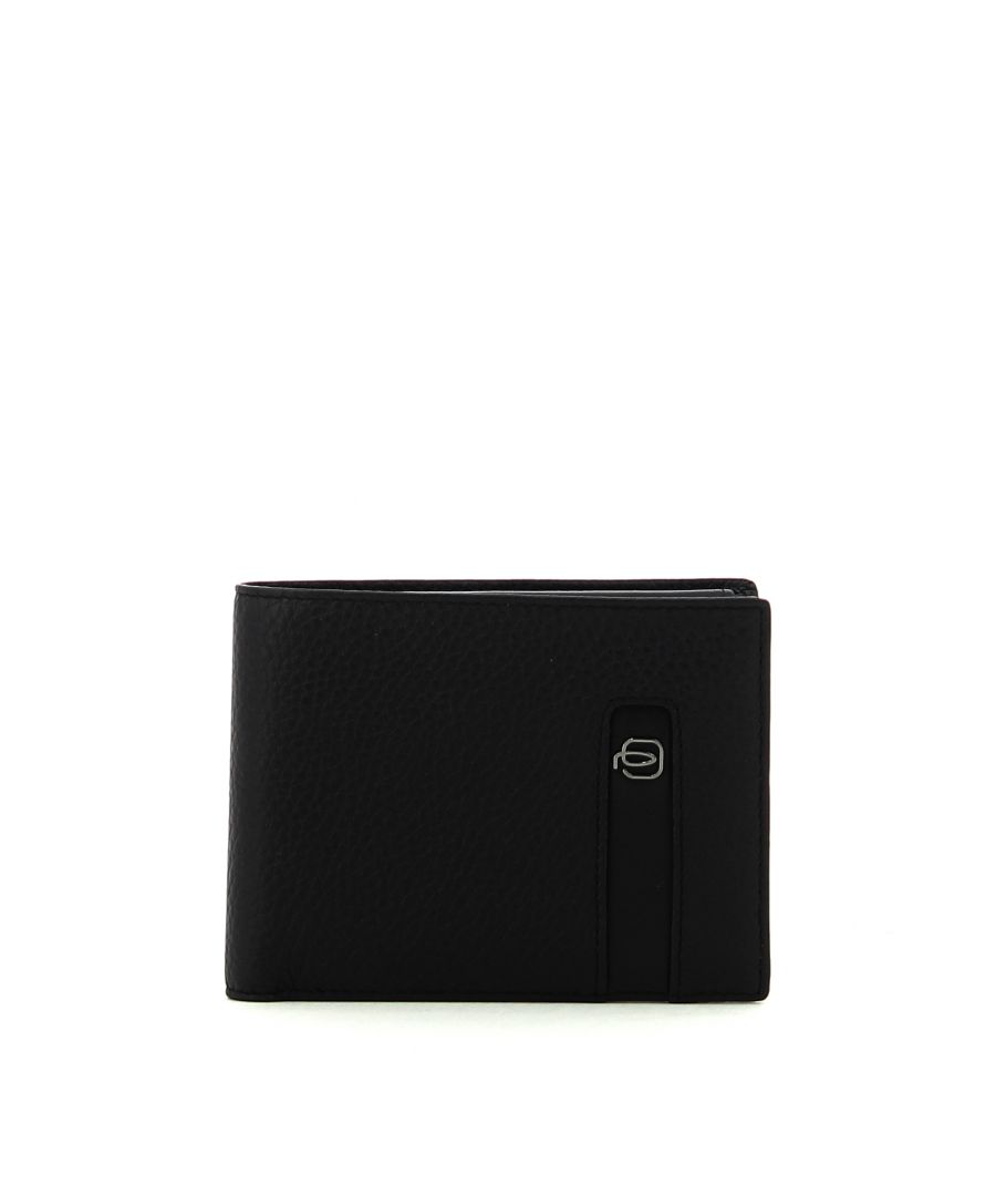 Image for Men wallet with coin pouch Ili Piquadro NERO
