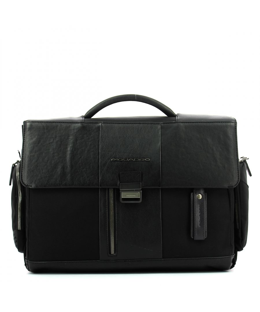 Image for Computer Briefcase Connequ Brief 15.6 Piquadro NERO