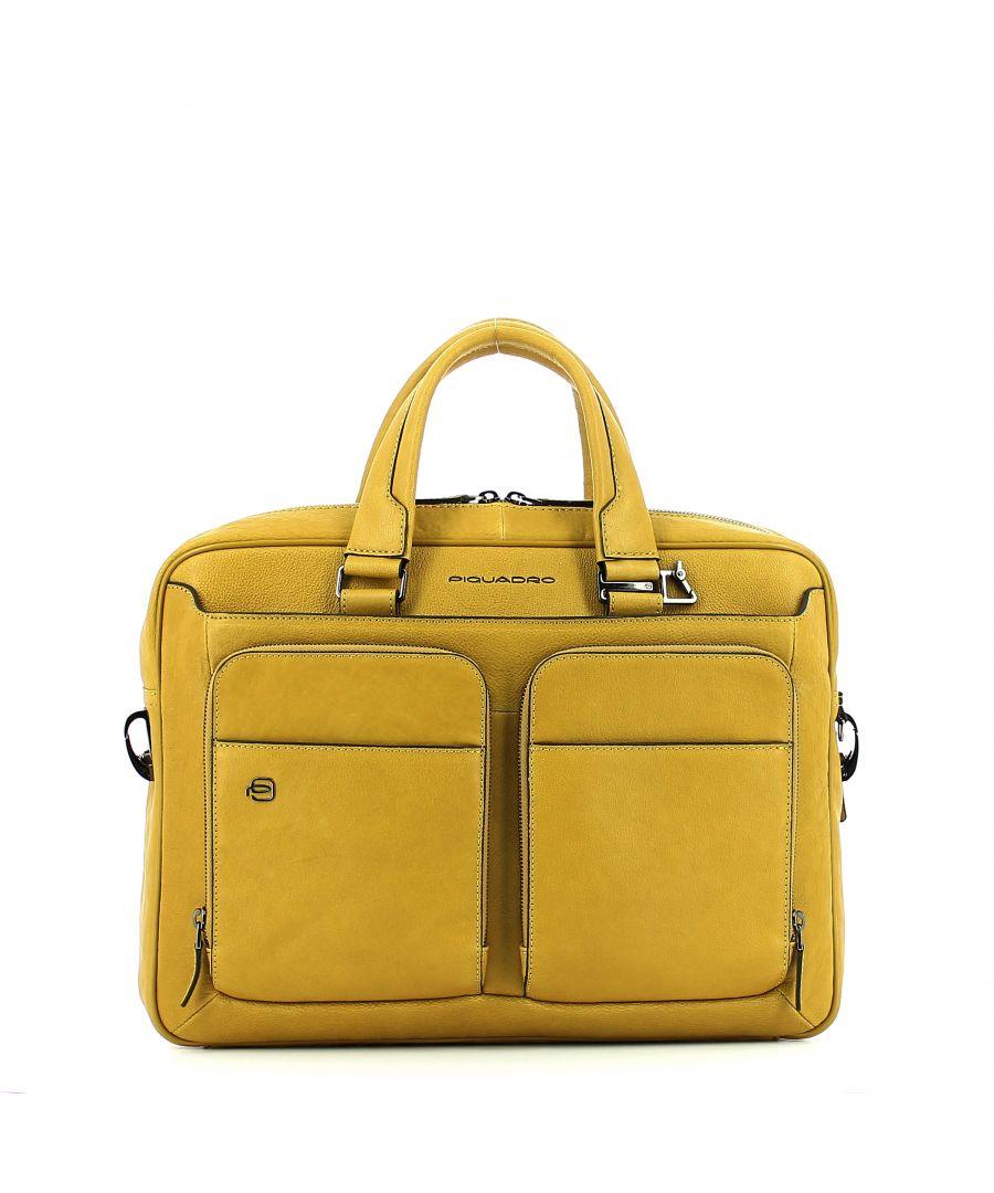 Image for Laptop briefcase Black Square 15.0 Connequ Piquadro GIALLO