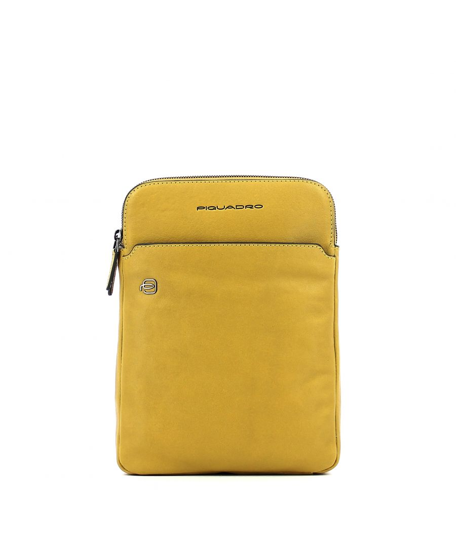 Image for Organised iPad®Air crossbody bag Black Square Piquadro GIALLO