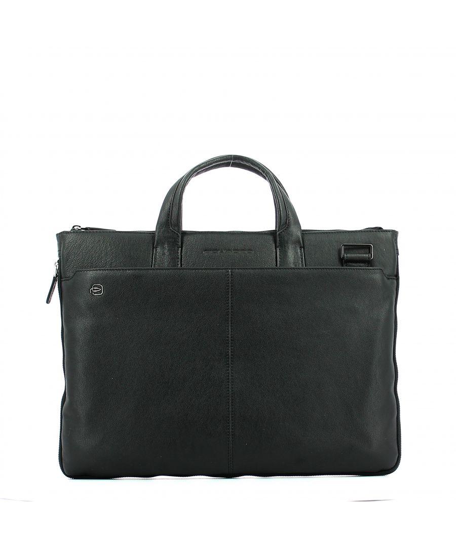 Image for Exp. Slim Briefcase Blue Square 15.6 Piquadro NERO