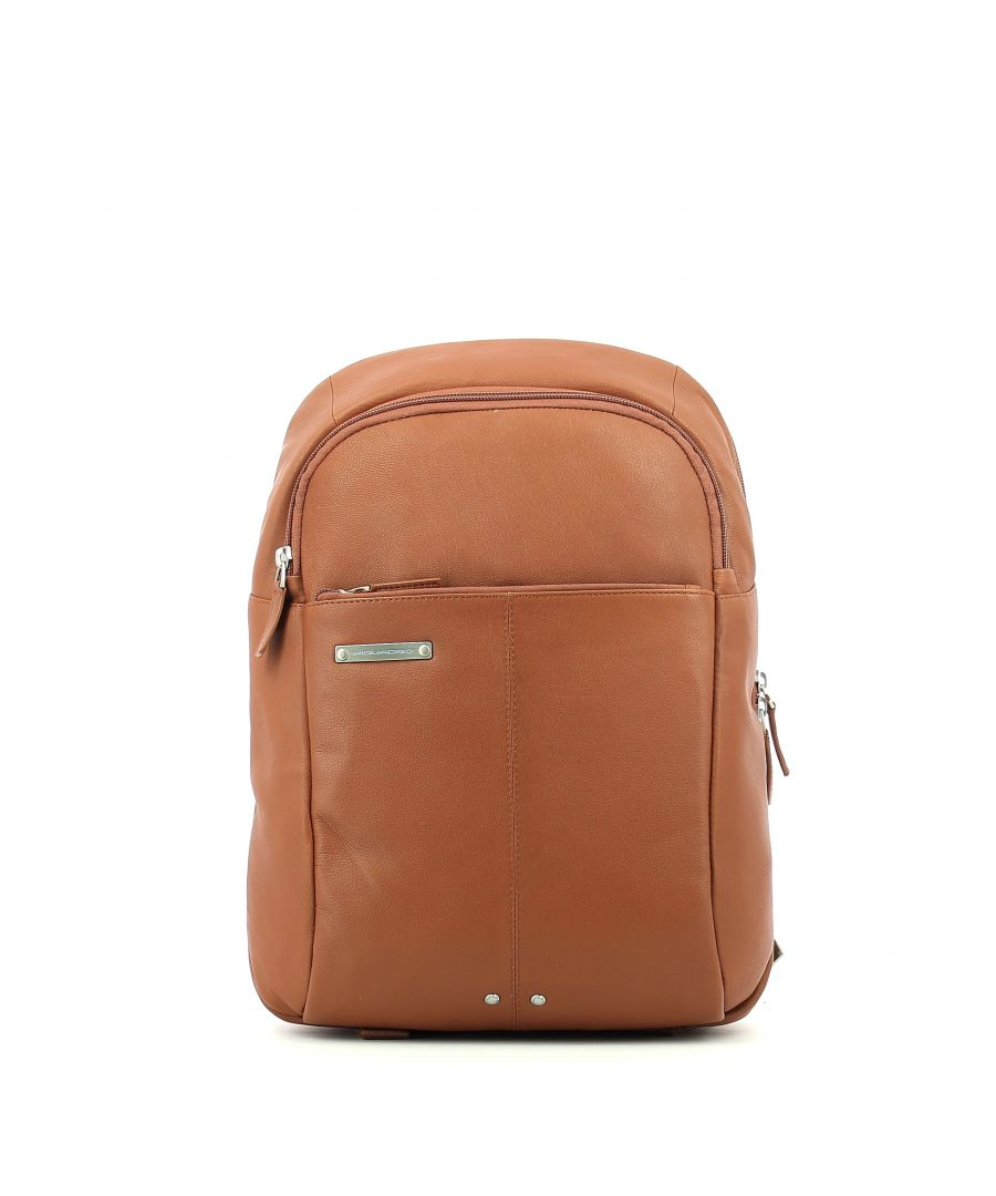 Image for Leather Backpack Medium Piquadro CUOIO