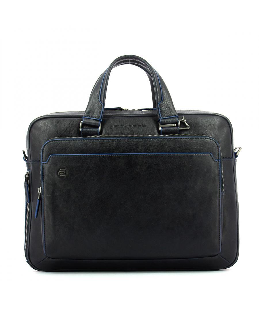 Image for Computer briefcase Black Square Connequ 15.0 Piquadro BLU