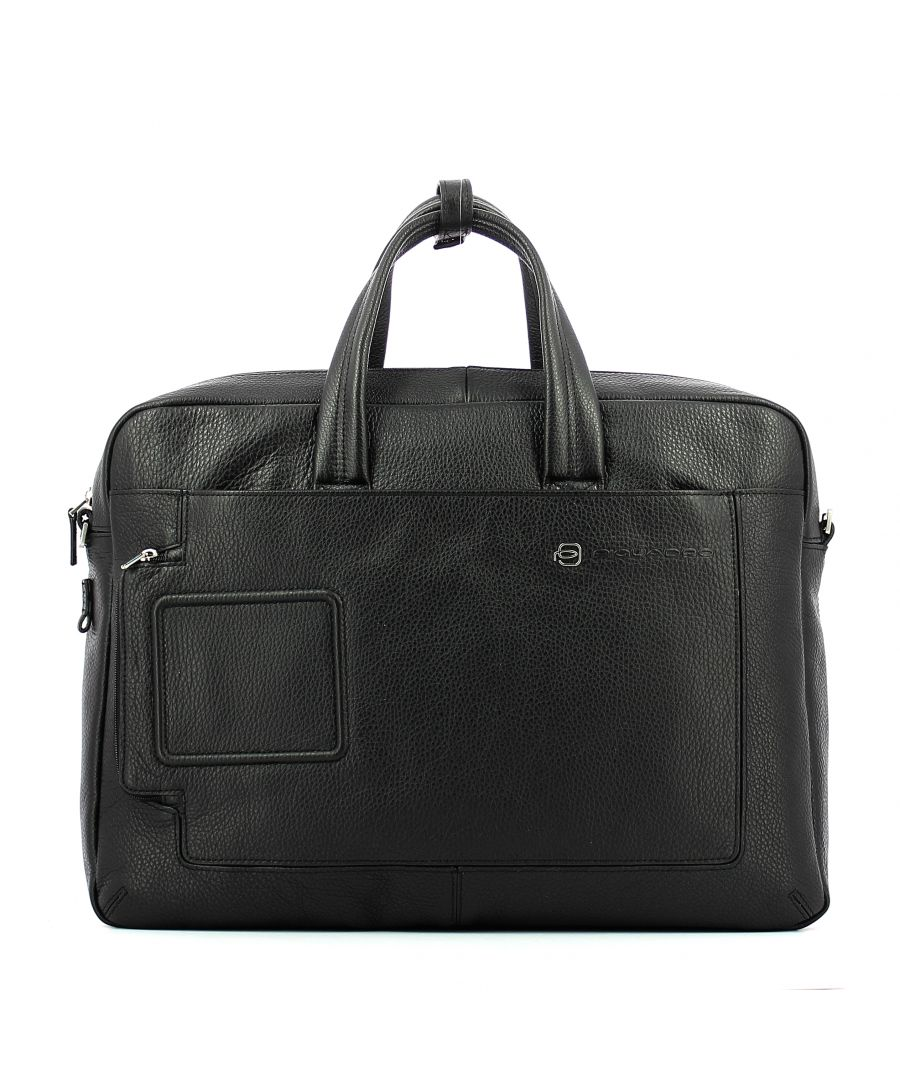 Image for Double handle laptop briefcase Vibe 15.6 Piquadro NERO