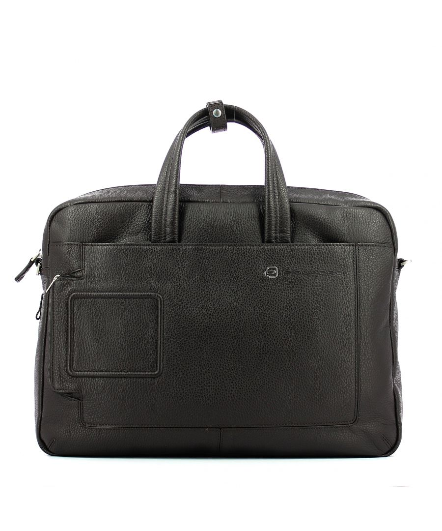 Image for Double handle laptop briefcase Vibe 15.6 Piquadro TESTA MORO