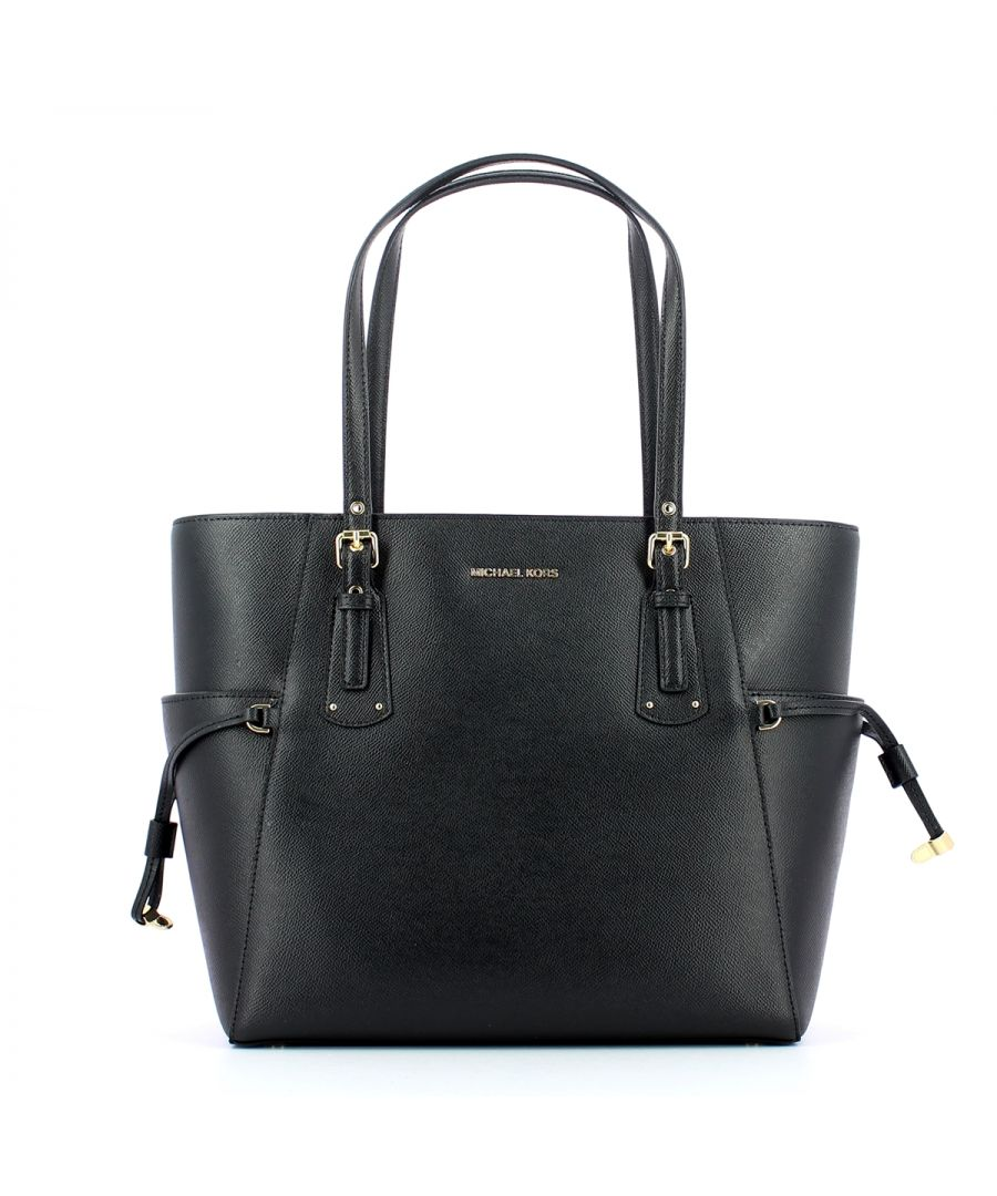 Image for Small East West Voyager Tote Bag Michael Kors BLACK