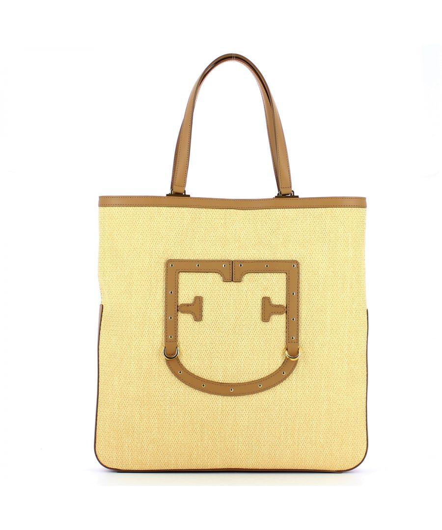 Image for Straw Tote Bag Fortezza L Furla BEIGE+CARAMELLO