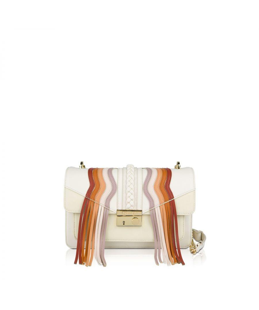 Image for Crossbody bag Giulietta Fringes Pomikaki CREAM