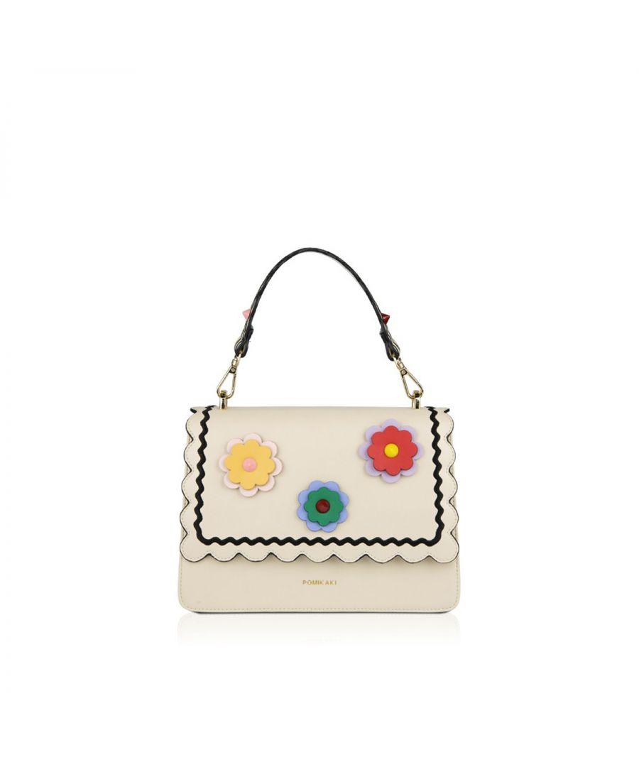 Image for Handbag Gwen Flowers Pomikaki CREAM