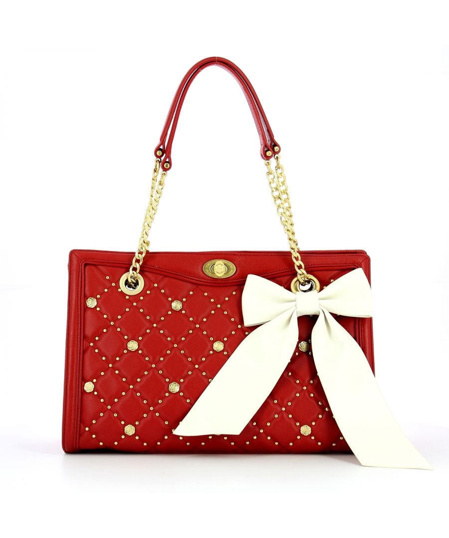 Image for Sandy Satchel in quilted leather Guess Luxe RED