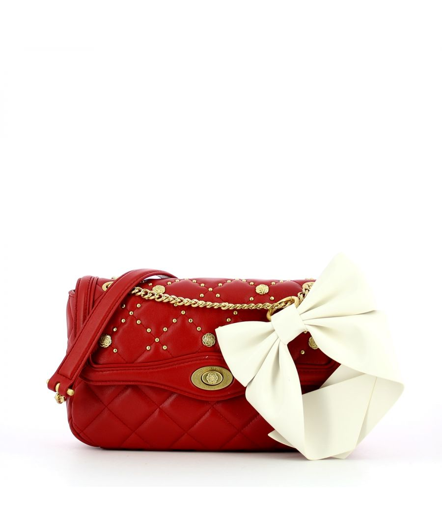 Image for Sandy crossbody in quilted leather Guess Luxe RED