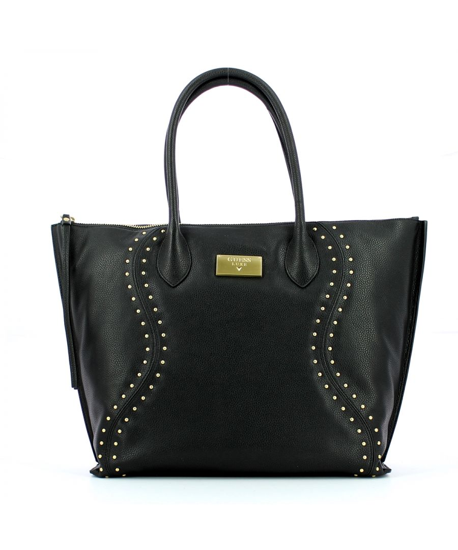 Image for Vicky leather shopper with studs Guess Luxe BLACK